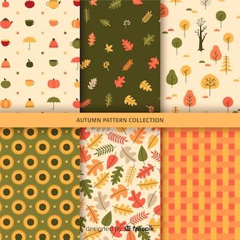 Kolekcja płaski wzór jesień