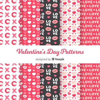 Kolekcja płaski wzór valentine