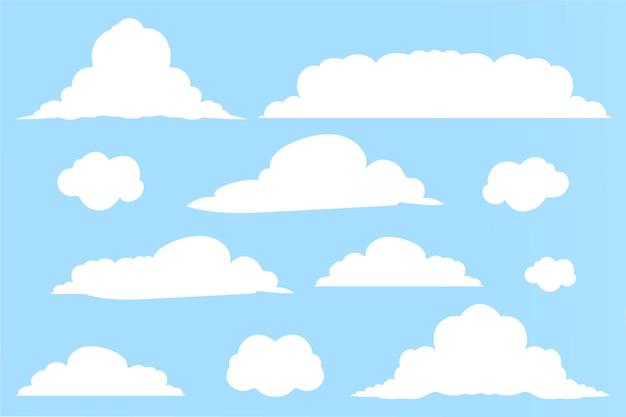 Kolekcja płaskich chmur