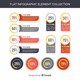 Kolekcja płaskich elementów infographic