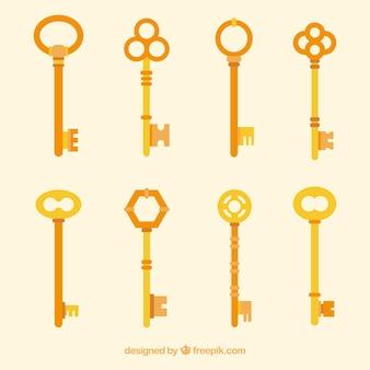 Kolekcja płaskich kluczy