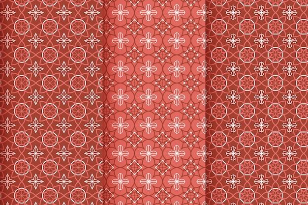 Kolekcja płaskich liniowych arabskich wzorów