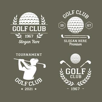 Kolekcja płaskich logo golfa