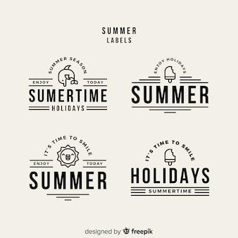 Kolekcja płaskich odznak letnich