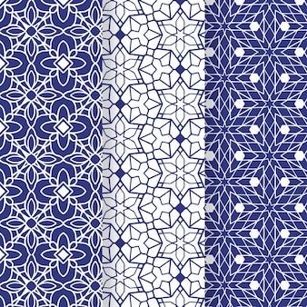Kolekcja płaskich ozdobnych arabski wzór