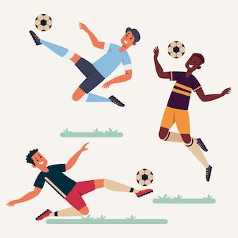 Kolekcja płaskich piłkarzy