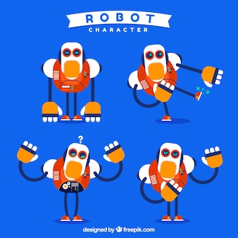 Kolekcja płaskich robotów