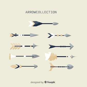 Kolekcja płaskich strzałek