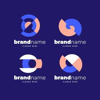 Kolekcja płaskich szablonów logo