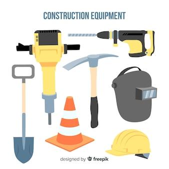 Kolekcja płaskich urządzeń budowlanych