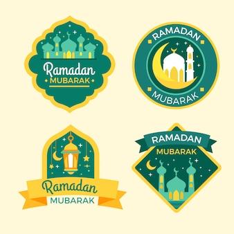 Kolekcja płaskich znaczków ramadan