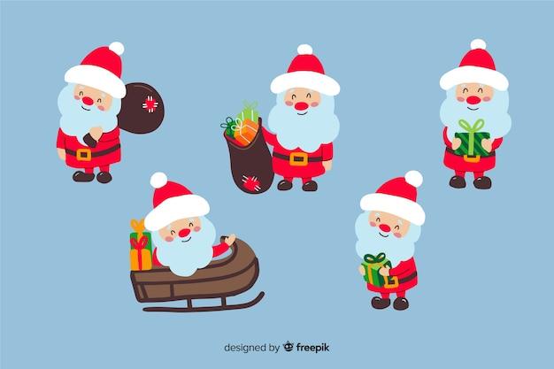 Kolekcja płaskich znaków świątecznych