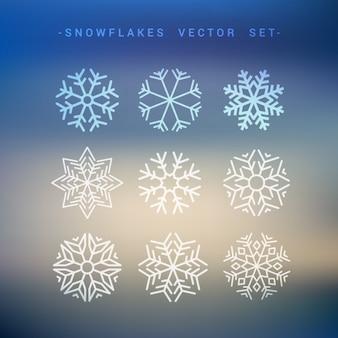 Kolekcja płatki śniegu
