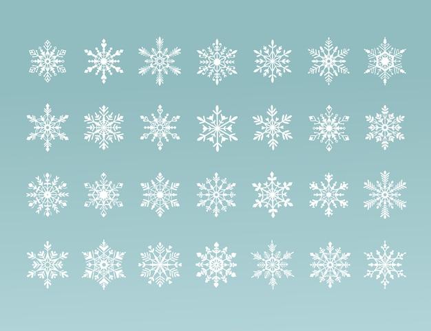 Kolekcja płatków śniegu