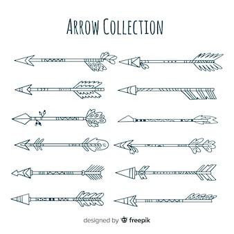 Kolekcja plemiennych strzał