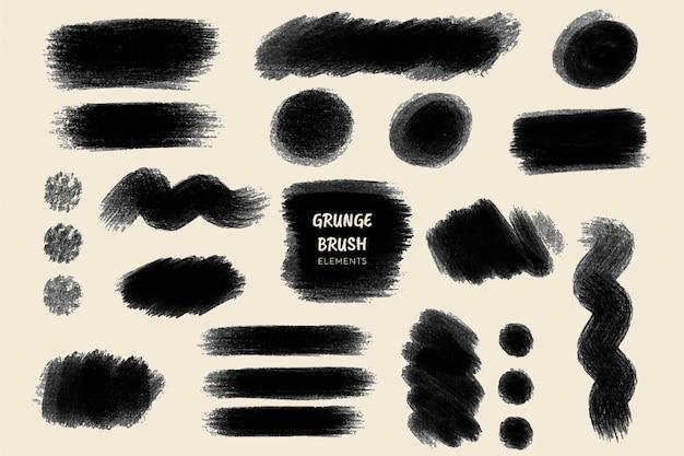 Kolekcja pociągnięć pędzla grunge