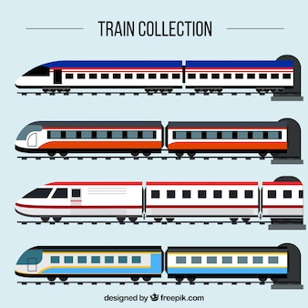 Kolekcja pociągów pasażerskich
