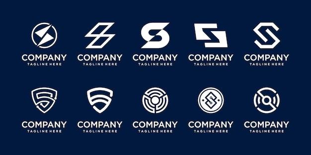 Kolekcja początkowa litera s ss logo szablon ikony dla biznesu mody sport automotive