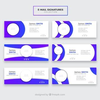 Kolekcja podpisów e-mail w stylu gradientu