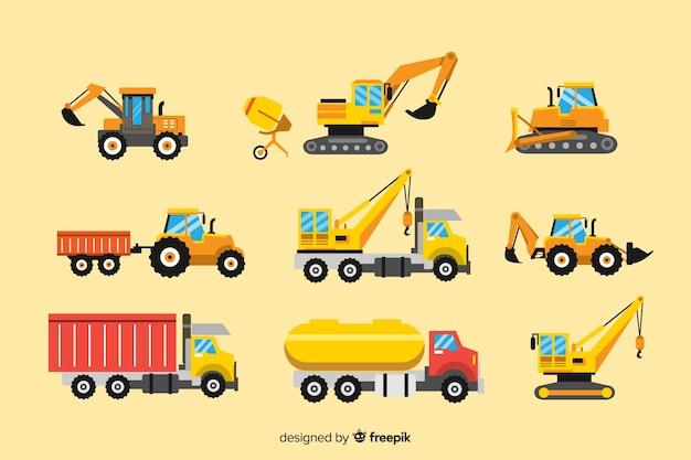 Kolekcja pojazdów budowlanych