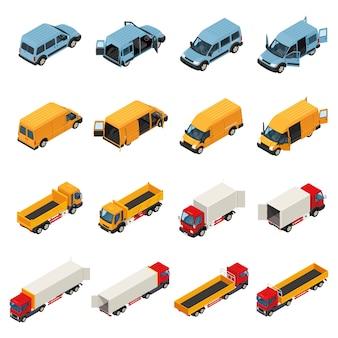 Kolekcja pojazdów transportu towarowego