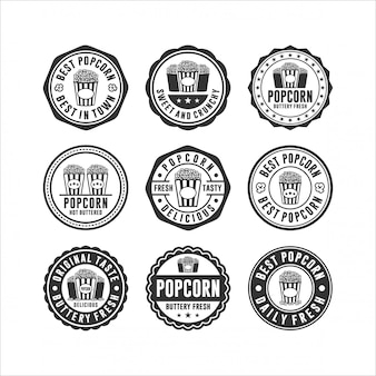 Kolekcja popcorn znaczek znaczek