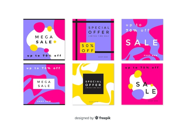 Kolekcja post instagram streszczenie sprzedaż