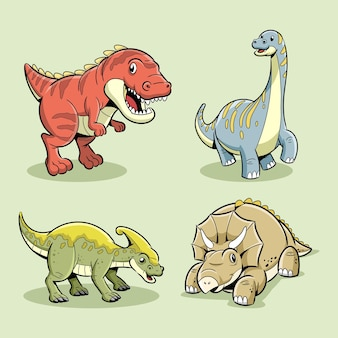 Kolekcja postaci dinozaurów