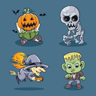 Kolekcja postaci halloween