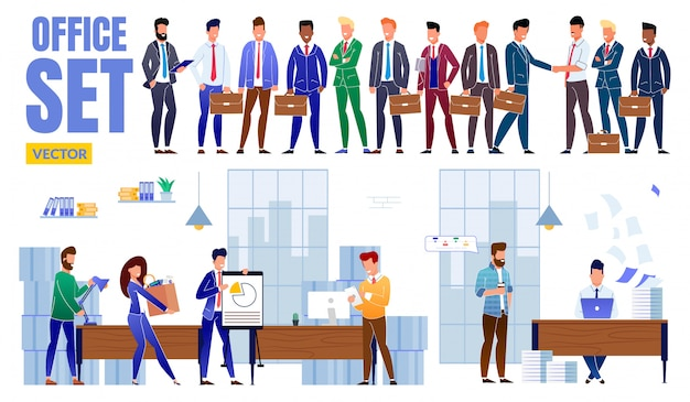Kolekcja postaci ludzi biznesu