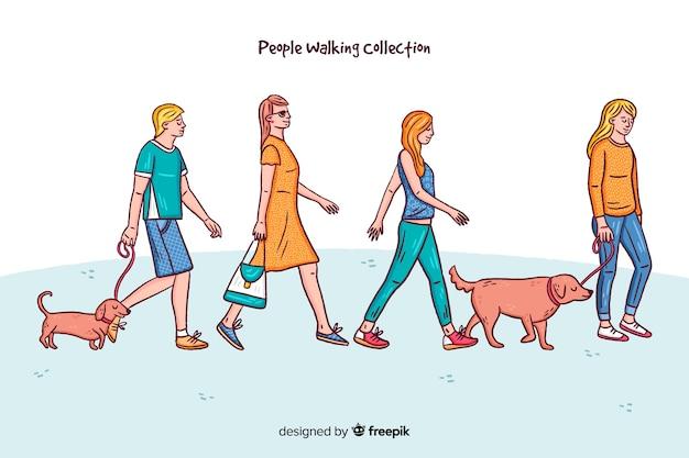 Kolekcja postaci ludzi