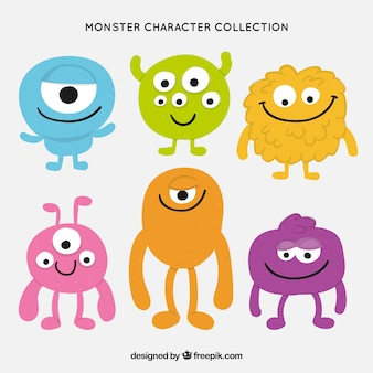 Kolekcja postaci monster