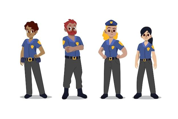 Kolekcja postaci policji