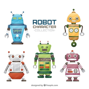 Kolekcja postaci robota