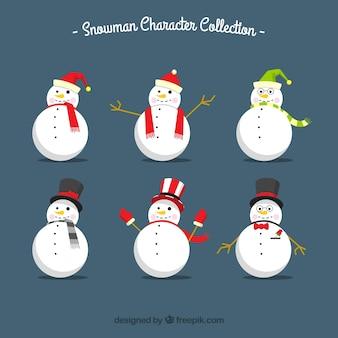 Kolekcja postaci snowman