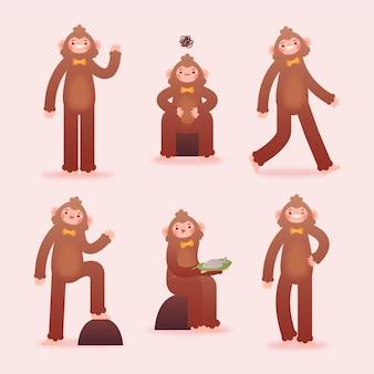 Kolekcja postaci z kreskówek bigfoot sasquatch