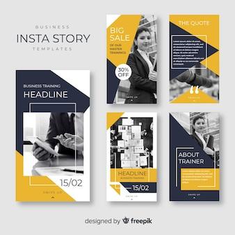 Kolekcja postów biznesowych na instagramie