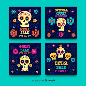 Kolekcja postów day of the dead instagram