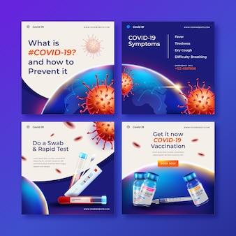 Kolekcja postów dotyczących koronawirusa