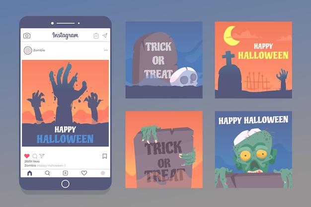 Kolekcja postów na halloween