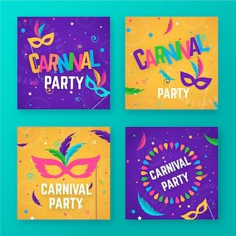 Kolekcja postów na imprezy karnawałowe