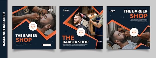 Kolekcja postów na instagramie dla biznesu fryzjerskiego