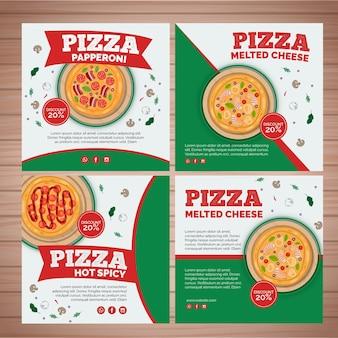 Kolekcja postów na instagramie dla restauracji pizzerii