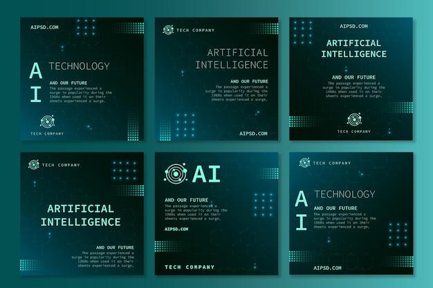 Kolekcja postów na instagramie dla sztucznej inteligencji