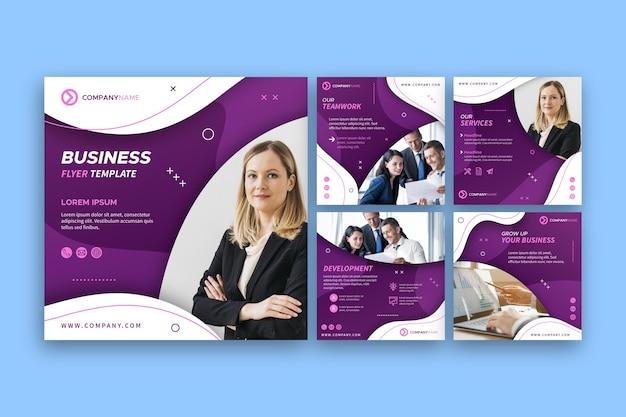 Kolekcja postów na instagramie dla usług biznesowych
