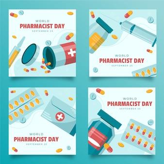 Kolekcja postów na instagramie dnia farmaceutów