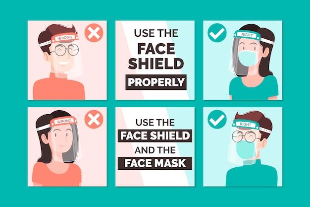 Kolekcja postów na instagramie do użytku z ukrytą twarzą