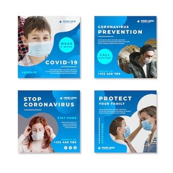 Kolekcja postów na instagramie koronawirusa