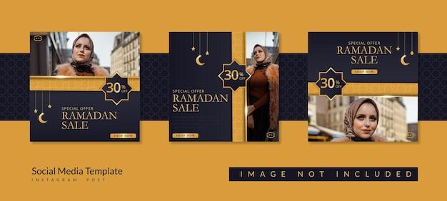 Kolekcja postów na instagramie na sprzedaż w ramach ramadanu