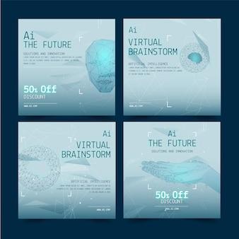 Kolekcja postów na instagramie o sztucznej inteligencji
